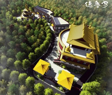 尼泊尔加德满都白玉大乘华严寺总体规划与建筑方案设计