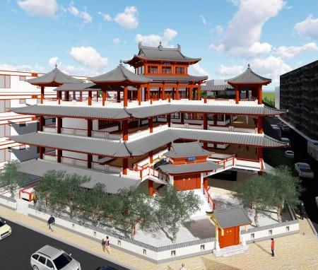 泰国曼谷观音寺建筑方案设计