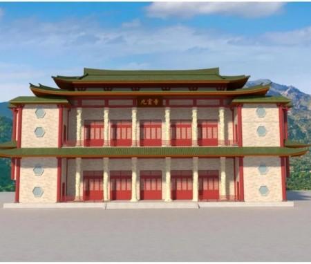 福州九云寺外立面改造方案设计