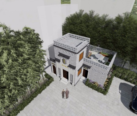 湖北武穴伽蓝寺单体建筑方案设计