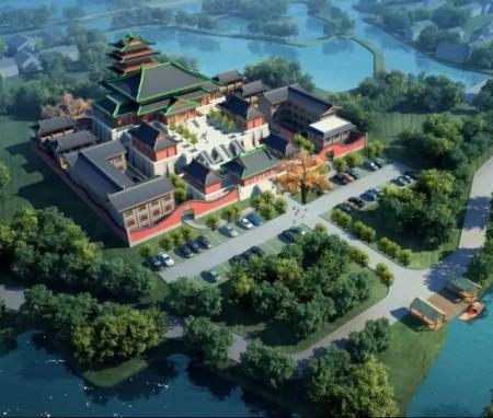 大宋遗风千年诗画 东南佛国明因禅境 ,上海青浦区明因寺总体规划