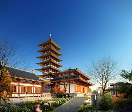 尼泊尔加德满都摩耶夫人寺总体规划设计