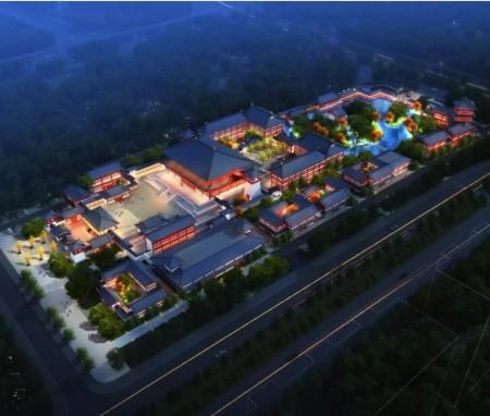北普陀圣境 青龙湖道场,哈尔滨江北观音寺总体规划
