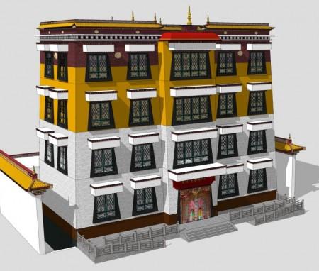 青海玉树贡萨寺历史展览馆
