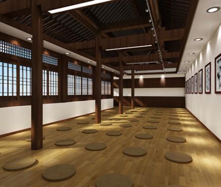 太原明秀寺禅堂茶室客堂室内设计