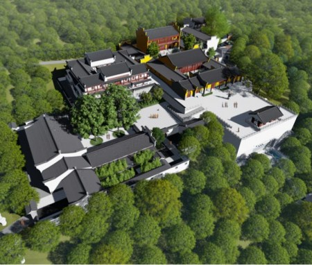 21亩湖南常德津市古大同寺总体规划设计