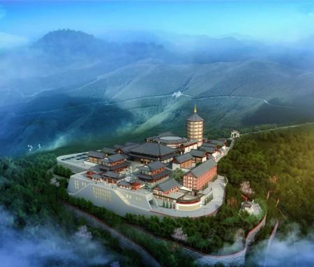 五台山101亩唐风东台望海寺的总体规划