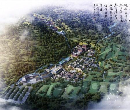 五台山佛教圣地的生态文化旅游综合体,山西省原平市生态文旅游总体规划设计