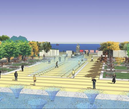武汉科技大学中南分校西区校园景观规划设计