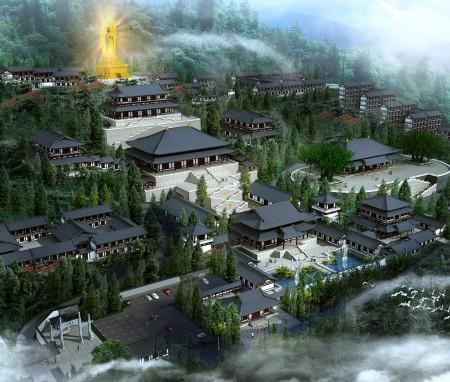 海南陵水县双榕古寺概念性规划设计