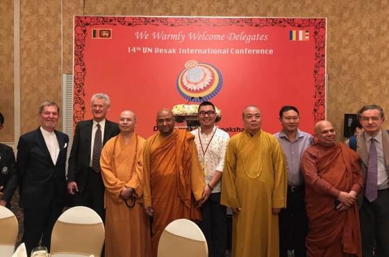 德鲁安受邀出席斯里兰卡第十四届联合国卫塞节庆典